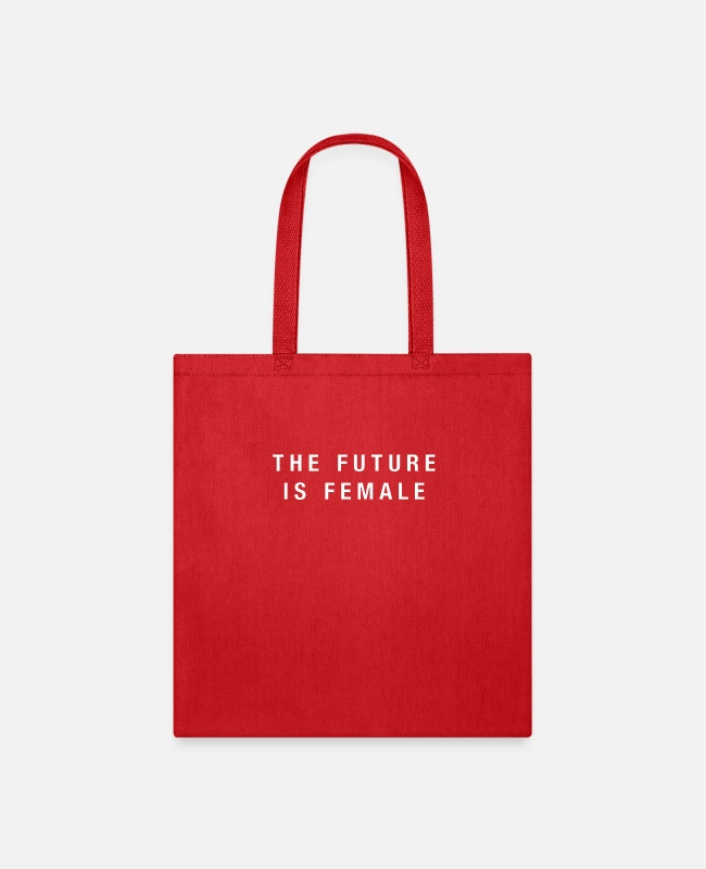 Mummy Bags & Backpacks - The Future Is Female (white) - Tote Bag red