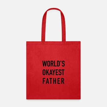 Father And Son Superman World's Okayest Father - Tote Bag