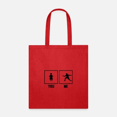 Martial Art Fencing Epee Fencer Sword Fighter You Me Martial A - Tote Bag