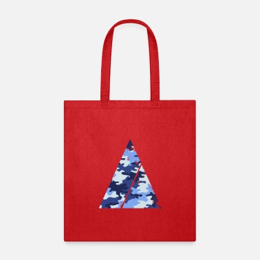 Super Triangle camouflage pattern with horizontal stripe - Tote Bag