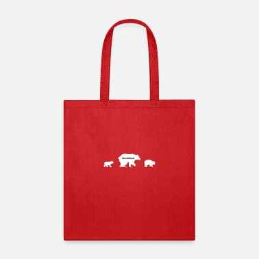 Mama Bear 2 Cubs Mama Bear with two Cubs - Tote Bag