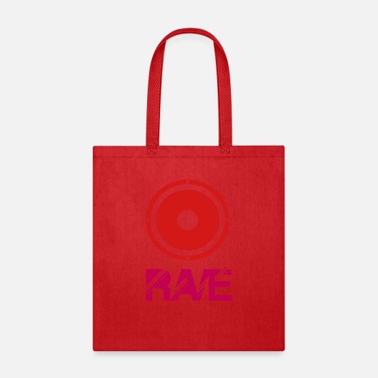 Waves Bags & Backpacks - rave stero - Tote Bag red