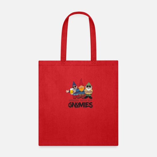 Flora Bags & Backpacks - Hangin' With My Gnomes - Tote Bag red