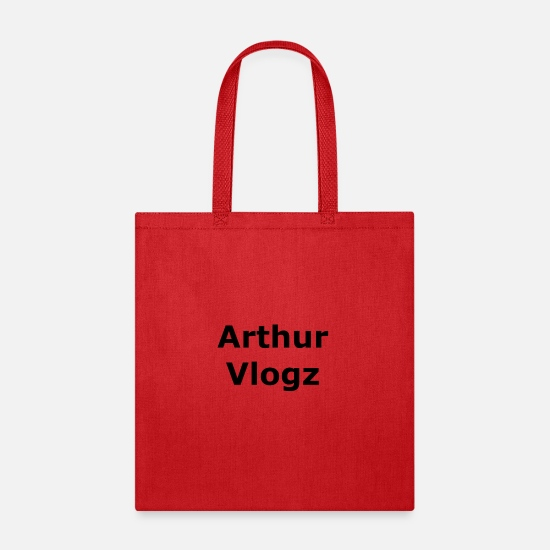 Dope Merch Bags & Backpacks - Arthur Vlogz Adult Shirts/Hoodies - Tote Bag red