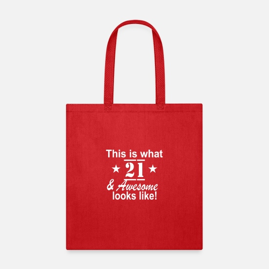 Game Bags & Backpacks - 21st Birthday - Tote Bag red