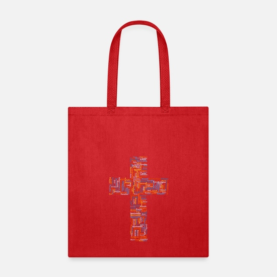 Catholic Bags & Backpacks - catholic cruise crucifix jesus - Tote Bag red
