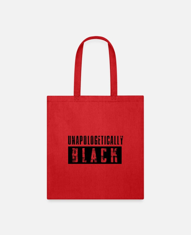 Black Power Bags & Backpacks - Unapologetically Black - Tote Bag red
