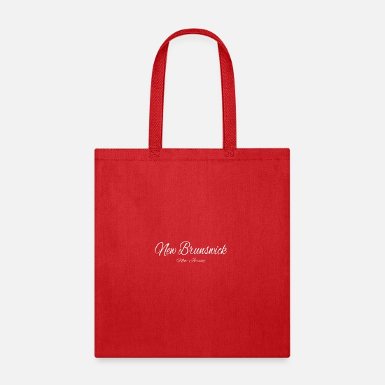 Baseball Bags & Backpacks - New Jersey New Brunswick US DESIGN EDITION - Tote Bag red