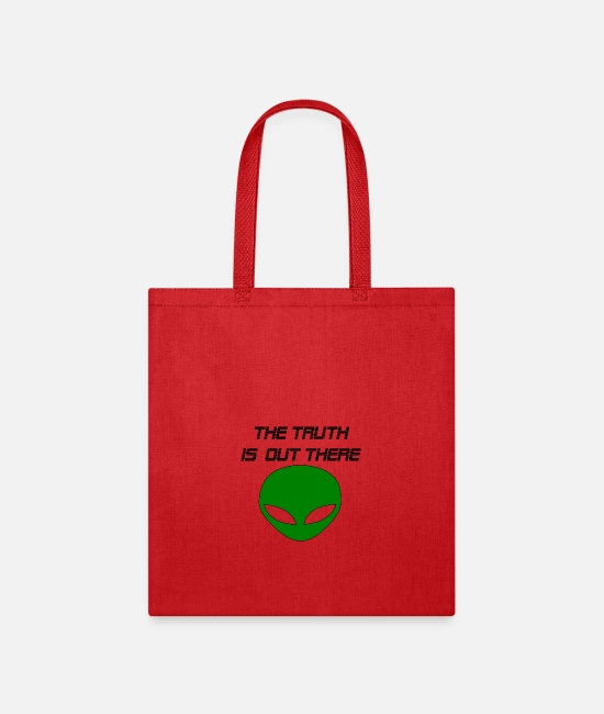 Birthday Bags & Backpacks - the truth is out there - Tote Bag red