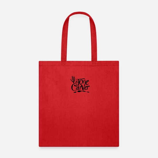 Rock Bags & Backpacks - Stone Carving - Tote Bag red