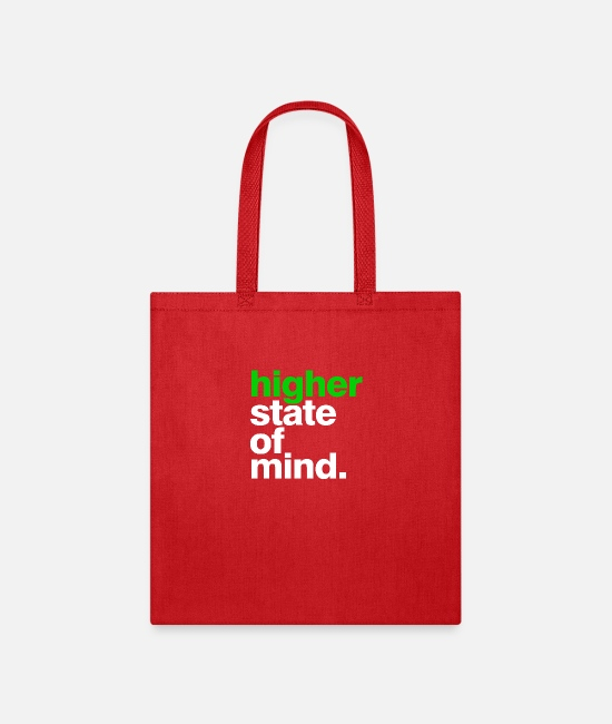 High Bags & Backpacks - higher state of mind - Tote Bag red