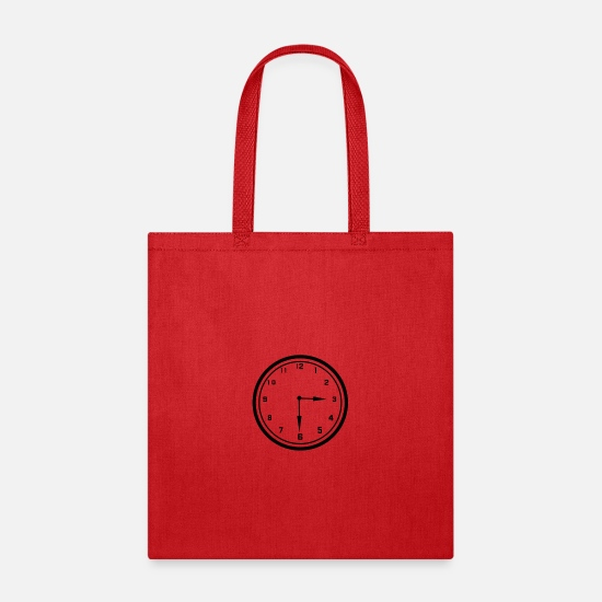 Clock Bags & Backpacks - clock - Tote Bag red