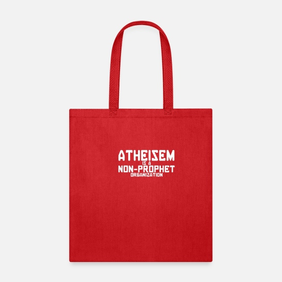 Symbol  Bags & Backpacks - Atheism Is A Non Prophet Organization - Tote Bag red