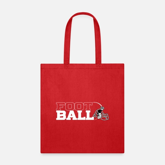 Football Bags & Backpacks - Football in Black - Tote Bag red