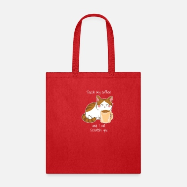 Night Owls Cute Angry Cat Coffee Monday Caffeine - Tote Bag