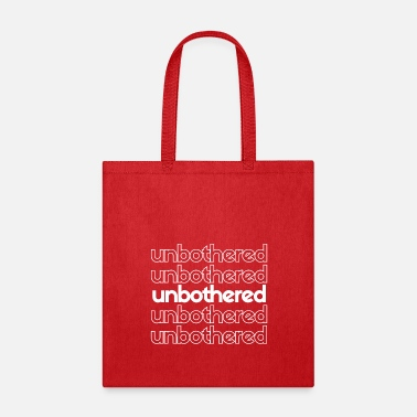unbothered white - Tote Bag