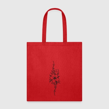 Ornament with hibiscus and filigree tendril - Tote Bag