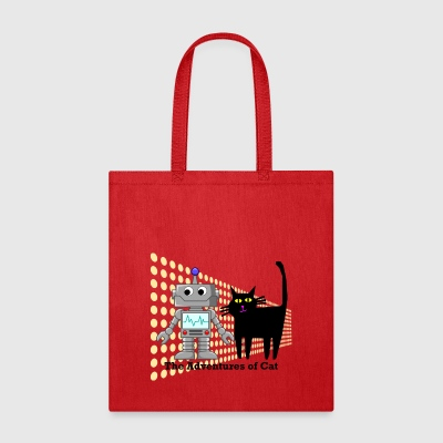 Cat Enters a Staring Contest - Tote Bag