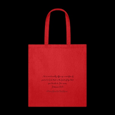 Sacrifice of Praise - Tote Bag