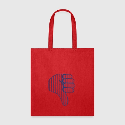 Baseball Celebration Thumbs Down - Tote Bag