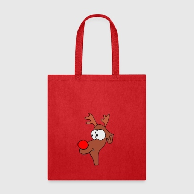 Reindeer Christmas XMAS with red Nose - Tote Bag