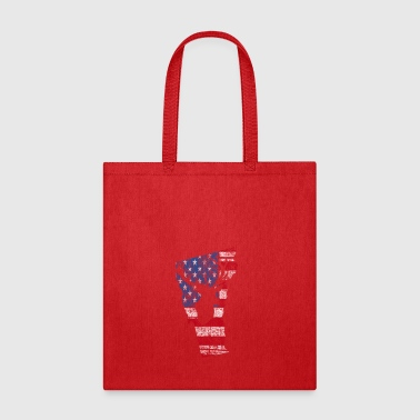 American Flag Vermont Deer Hunting Distressed T-Sh - Tote Bag