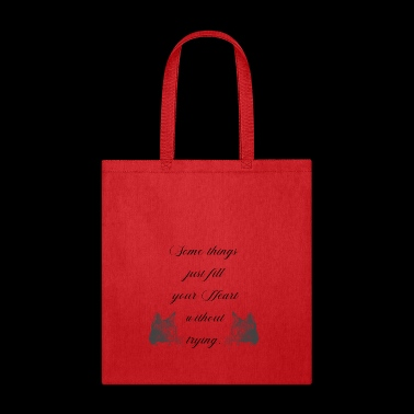 some thing just fill your heart without trying cat - Tote Bag