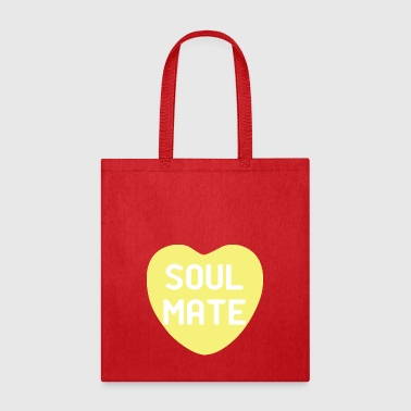 Soul Mate Yellow Candy Heart - Tote Bag