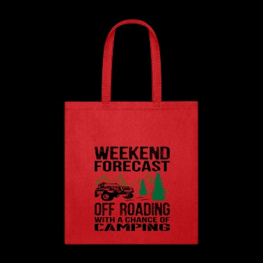 0ffroad With Chance Of Camping Jeep - Tote Bag