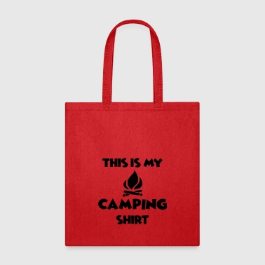 This is my Camping Shirt - For outdoor lovers - Tote Bag