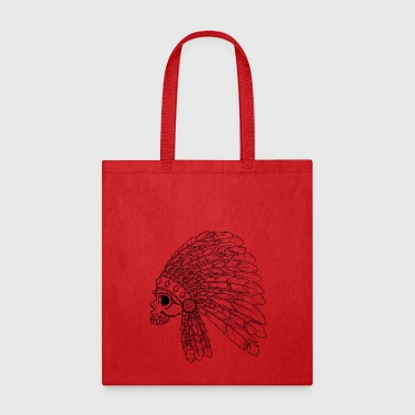 Native American Indian Skull - Tote Bag
