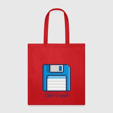 8-BIT FLOPPY DISK CTRL+S NOW - Tote Bag