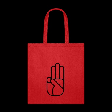 hand of sign 38 gift peace love - Tote Bag