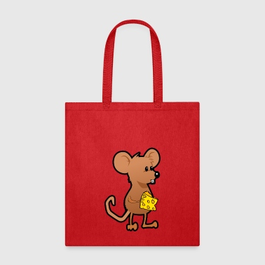 rat mouse with cheese maus ratte mit kaese - Tote Bag