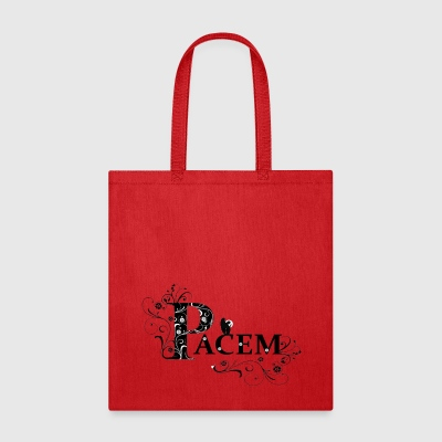 FLORAL ANGEL OF PEACE IN LATIN - Tote Bag