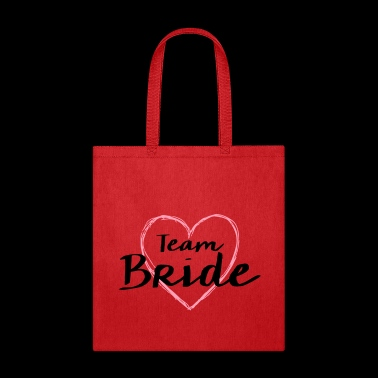Team Bride heart hen night bachelorette party - Tote Bag