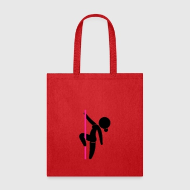 A Stripper Dancing On A Pole - Tote Bag
