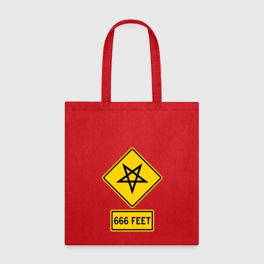 American Satanic Danger in the Road - Tote Bag