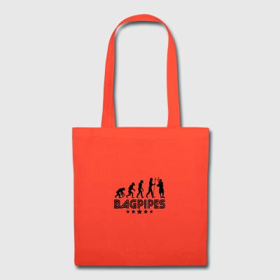 Retro Bagpipes Evolution - Tote Bag