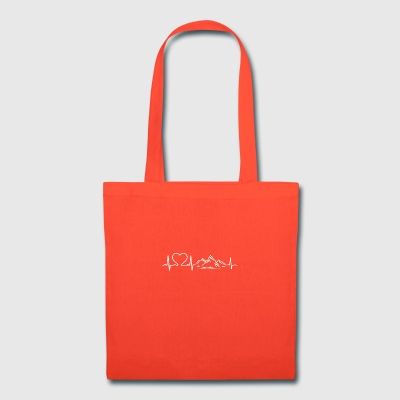 Love Mountains Heartbeat Shirt - Tote Bag