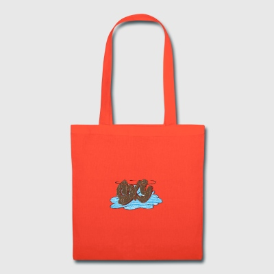 sky_graffiti_brown - Tote Bag