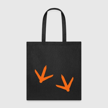 Turkey chicken footprints for Thanksgiving - Tote Bag