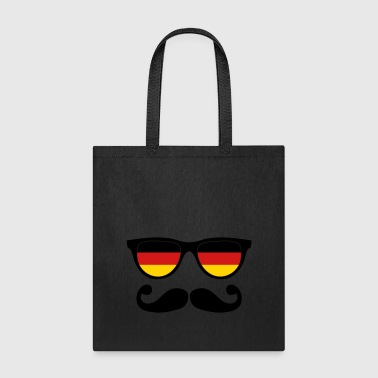 german moustache glasses nerd - Tote Bag
