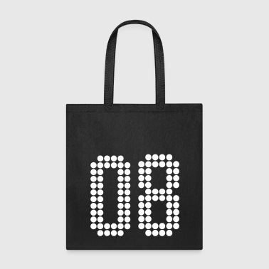 08, Numbers, Football Numbers, Jersey Numbers - Tote Bag