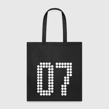 07, Numbers, Football Numbers, Jersey Numbers - Tote Bag