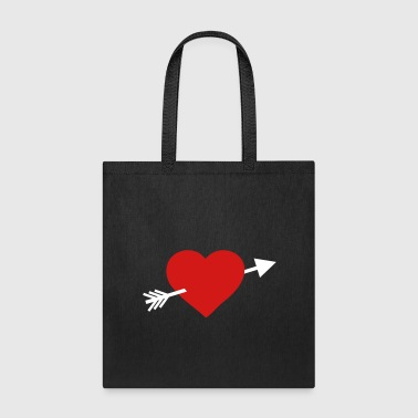 Heart with arrow - Tote Bag