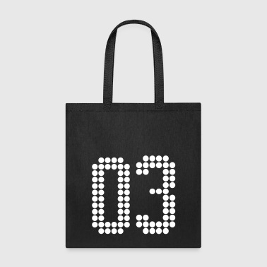 03, Numbers, Football Numbers, Jersey Numbers - Tote Bag