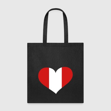 Peru Heart; Love Peru - Tote Bag