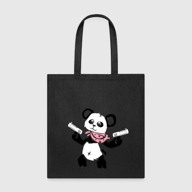 Cuddly Panda With Gun - Tote Bag
