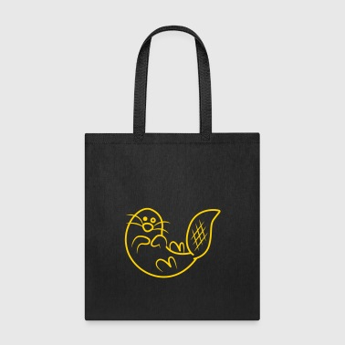 super cute otter ocean mammal - Tote Bag
